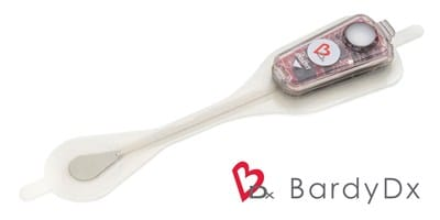 CAM Patch by Bardy Diagnostics - a cardiac patch monitor engineered to capture low amplitude, low frequency electrical signals that form the P-wave.